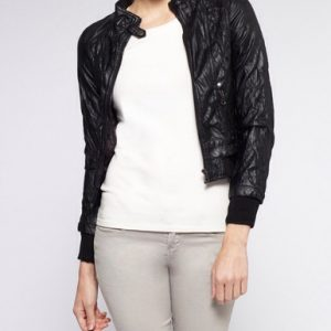 CI Sono Faux Leather Jacket-Black-Front