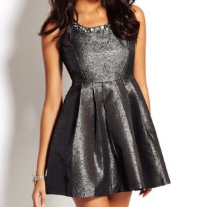 Cecico Metallic Dress-Front