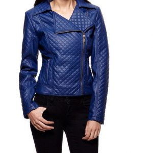 Celsius Quilted Moto Jacket-Front