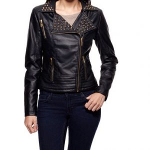 Celsius Studded Moto Jacket-Front