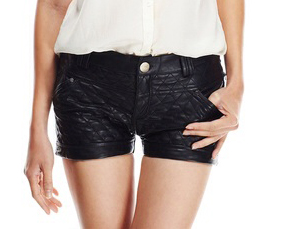 Gracia Quilted Shorts-Front