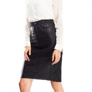 Maggie Faux Leather Pencil Skirt