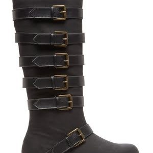 Penny Loves Kenny Buckle Boot-Side-Black