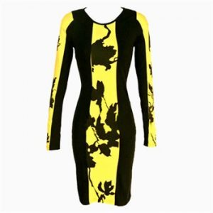 Trista Dress-Yellow-Front
