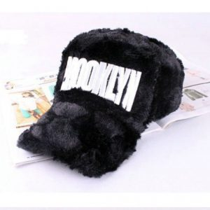 blackBrooklyn Fuzzy Hat